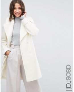 Coat In Oversized Fit With Turn Back Cuff