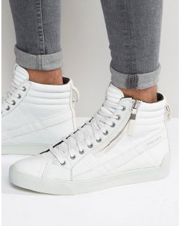 D-string Leather Trainers