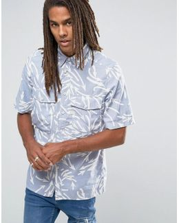 Type C Boxy Shirt Short Sleeve Weather Arrow Print