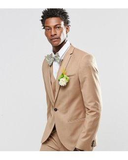 Flannel Wedding Suit Jacket In Super Skinny Fit