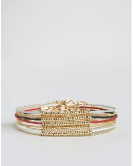 Lightweight Bracelet Pack With Gold Beads