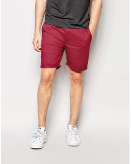 Slim Chino Shorts In Berry