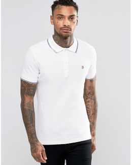 T-skin Slim Fit Pique Tipped Polo