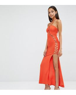 Sexy Dare Maxi Dress With Lattice Detail
