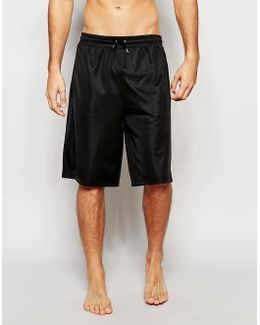 Loungewear Oversized Shorts In Poly Tricot