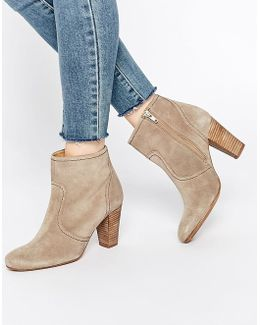 Portia Heeled Suede Ankle Boots