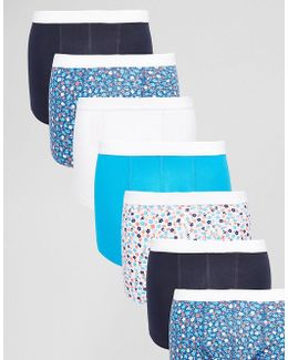 Trunks 7 Pack With Ditsy Floral Print Save