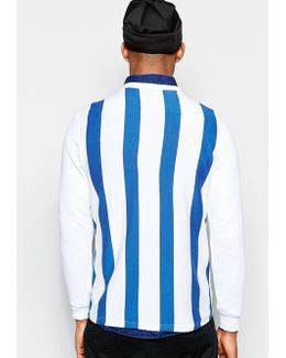 Long Sleeve T-shirt With Back Stripe Print