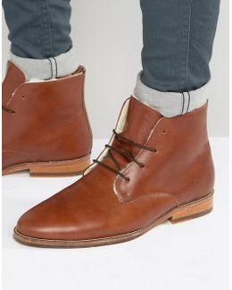 L'explorateur Faux Shearling Lace Up Boots