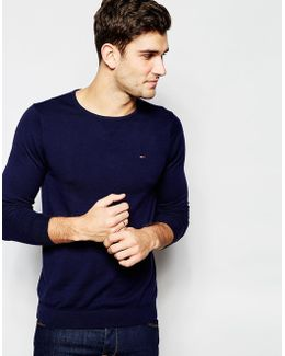 Tommy Jumper With Crew Neck In Navy