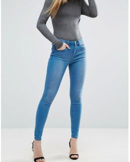 'sculpt Me' Premium Jeans In Kelly Bright Blue Wash