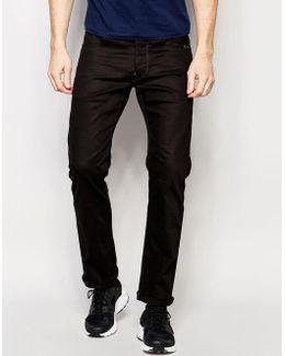 Jeans Revend Straight Fit Stretch Raw Black