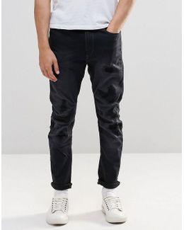 Jeans Type C 3d Super Slim Fit Superstretch Dark Grey Restored 63