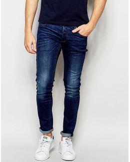Beraw Jeans 3301-a Super Slim Fit Mid Wash