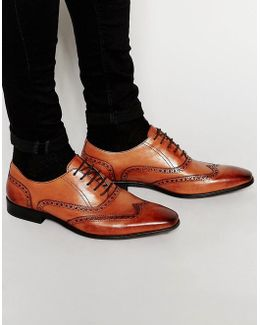 Leather Wing Tip Brogues