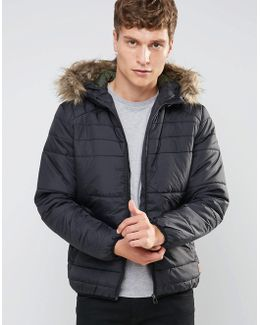 Originals Padded Jacket With Faux Fur Hood