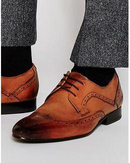 Oakke Leather Brogue Derby Shoes