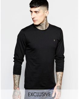 T-shirt With F Logo Slim Fit Exclusive Long Sleeves