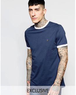T-shirt With Contrast Trim Slim Fit Exclusive