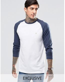 T-shirt With Contrast Reglan Long Sleeves Slim Fit Exclusive