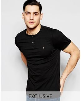T-shirt With Henley Neck Slim Fit Exclusive