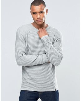 Core Ribbed Basic Knit Jumper