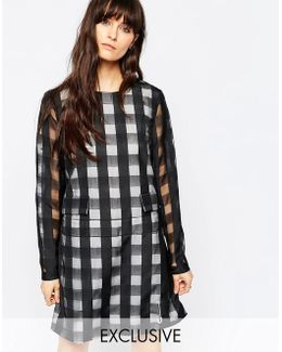 Le Kilt For Long Sleeve Playsuit With Skirt Overlay
