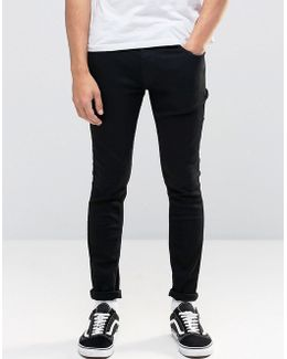 Intelligence Skinny Jeans In Black