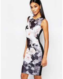 Floral Pencil Dress In Allover Floral