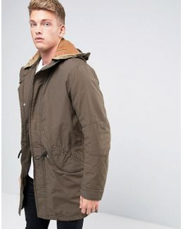 Vintage Fishtail Parka With Quilted Lining And Removable Wire Frame Hood