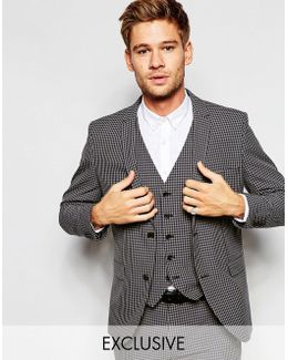 Exclusive Gingham Suit Jacket In Skinny Fit