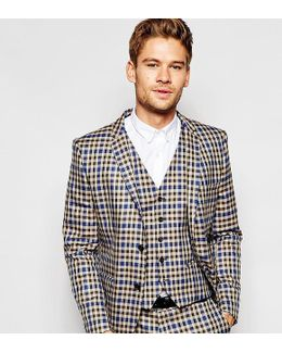 Exclusive Heritage Check Suit Jacket In Skinny Fit