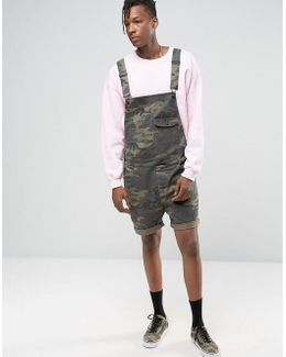 Short Dungarees In Camo