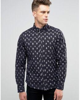 Brush Stroke Slim Fit Shirt