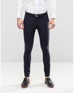 Super Skinny Suit Trousers With Stretch