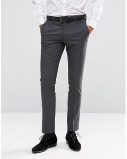 Skinny Pinstripe Morning Wedding Suit Pants With Stretch