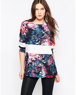 After Party Long Sleeve Crepe Tunic