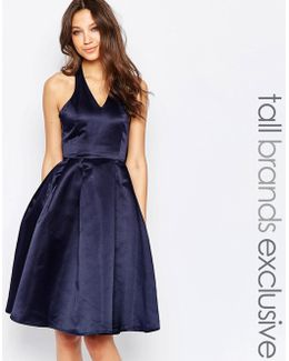 Halterneck Prom Dress With Bow Back