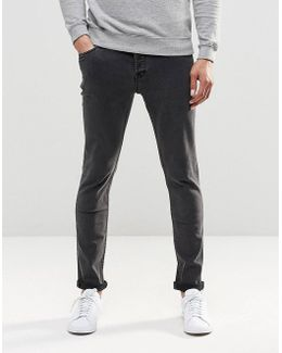 Washed Black Slim Fit Jeans With Stretch