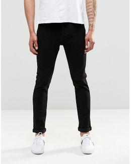 Jeans In Skinny Fit Black Denim With Stretch