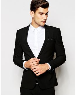 Wedding Super Skinny Fit Blazer In Black