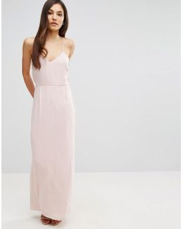 Cami Strap Maxi Dress With Dipped Lace Back