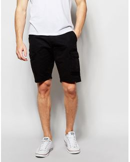 Cargo Shorts Straight Fit In Washed Black
