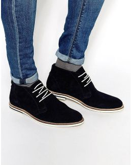 Chukka Boots In Navy Suede