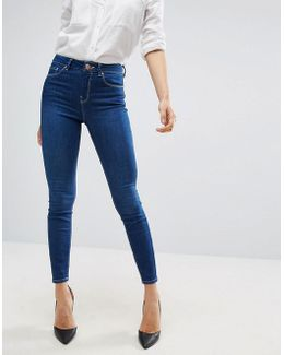 Ridley High Waist Skinny Jeans In Astral Deep Blue