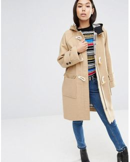 Hooded Duffle Coat In Oversized Fit