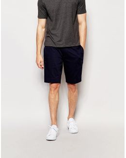 Skinny Mid Length Tailored Shorts In Navy