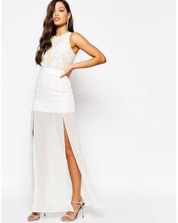 Premium Embellished Top Maxi Dress