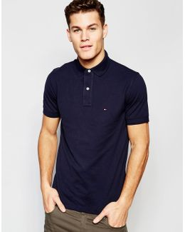 Polo In Slim Fit In Navy