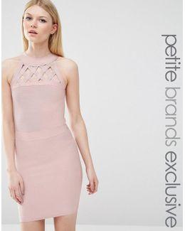 Bandage Dress With Lattice Detail